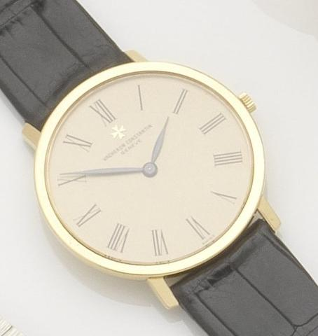 Vacheron Constantin. An 18ct gold manual wind wristwatchCase No.516726, Movement No.682288, 1970's