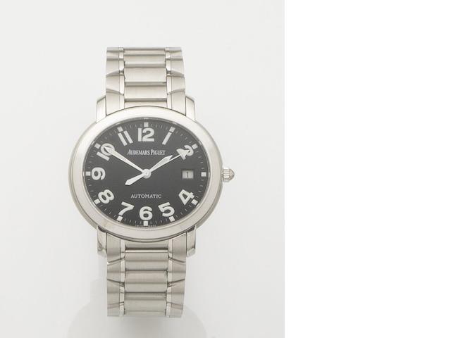 Audemars Piguet. A stainless steel automatic calendar bracelet watch Millenary, Case No.E54173, Movement No.508761, Recent