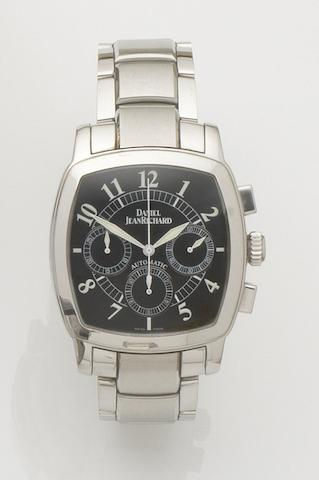 Daniel Jean Richard. A stainless steel automatic chronograph bracelet watch Ref:25016, No.1060, Recent