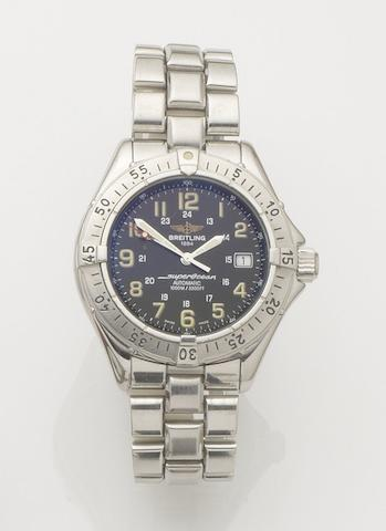 Breitling. A stainless steel automatic calendar bracelet watchSuperocean, Ref:A17040, Case No.11288, Sold 30th November 1996