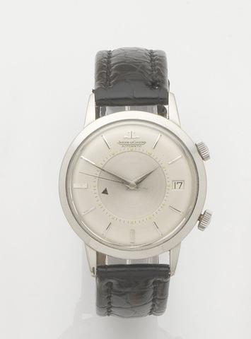 Jaeger-LeCoultre. A stainless steel automatic calendar alarm wristwatch Memovox, Ref:853 855, Case No.1030994, Circa 1957