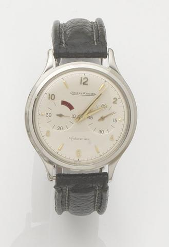 Jaeger-LeCoultre. A stainless steel automatic wristwatch with power reserveFuturematic, Case No.632907, 1950's