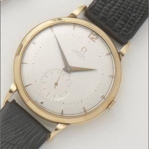Omega. A 14ct gold automatic wristwatch Case No.021496, Movement No.11899717, 1950's
