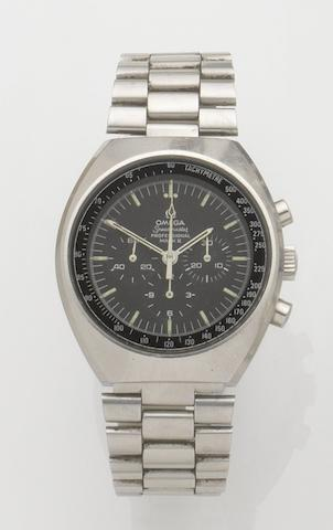 Omega. A stainless steel manual wind chronograph bracelet watch Speedmaster Professional Mark II, Ref:145.014, Movement No.32212610, Circa 1971