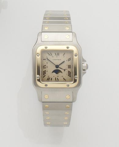 Cartier. A stainless steel quartz calendar bracelet watch Santos Galbee LM, Ref:5252, Case No.119901, Recent