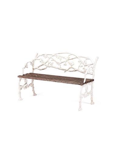 A Victorian cast iron rustic pattern garden bench