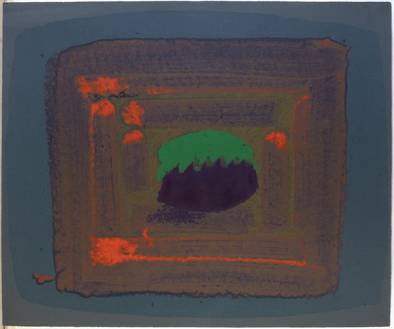 Sir Howard Hodgkin (British, born 1932) Tropic Fruit(Heenk P222) Sreenprint in colours, 1981, on Arches, initialled, dated and numbered 79/100, published by Bernard Jacobson Ltd., London, the full sheet, 785 x 935mm (30 7/8 x 36 3/4in)(SH) unframed
