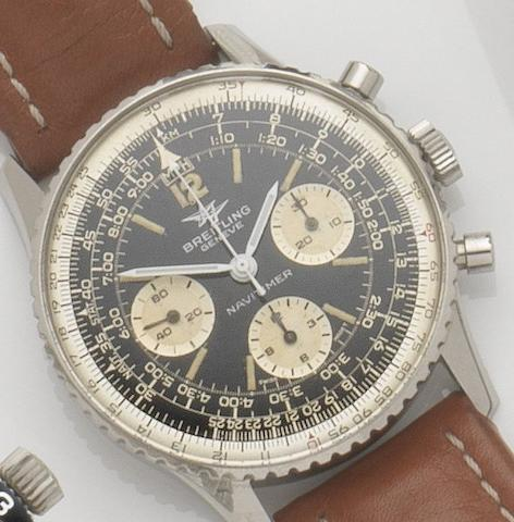 Breitling. A stainless steel manual wind chronograph wristwatchNavitimer, Ref:806, Case No.1064599, 1960's