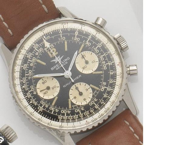 Breitling. A stainless steel manual wind chronograph wristwatch Navitimer, Ref:806, Case No.1064599, 1960's