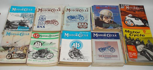 A quantity of pre and post-War TT edition issues of The MotorCycle,