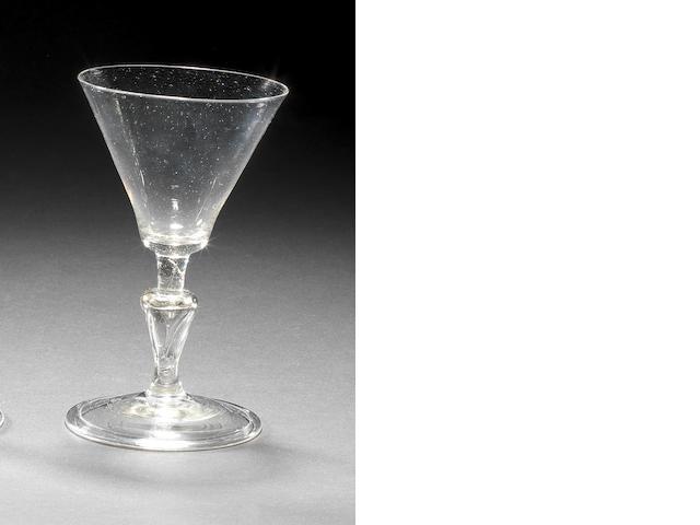 A façon de Venise wine glass, late 17th century