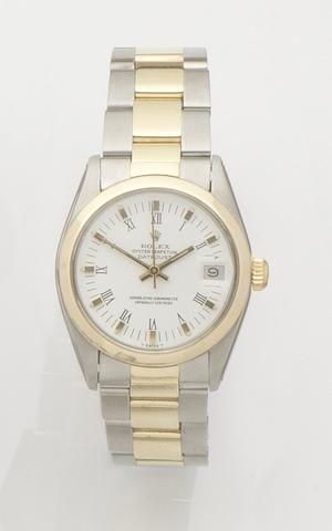 Rolex. A stainless steel and gold automatic calendar bracelet watch Datejust, Ref:6822, Case No.5768943, Recent