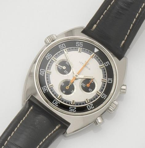 Lemania. A stainless steel manual wind chronograph wristwatchCase No.9658, Movement No.3147473, 1970's