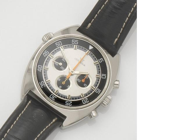 Lemania. A stainless steel manual wind chronograph wristwatch Case No.9658, Movement No.3147473, 1970's