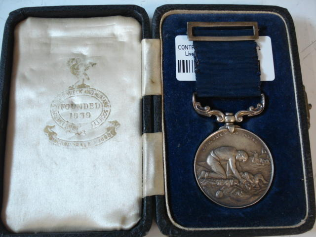 A silver Liverpool Shipwreck and Humane Society Medal by H & R, Birmingham 1947