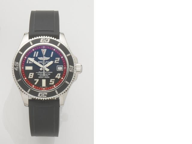 Breitling. A stainless steel automatic wristwatch with box and papers Superocean, Ref:A17364, Case No.1315974, Sold 8th March 2011