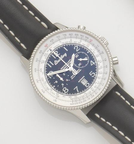 Breitling. A stainless steel automatic calendar chronograph wristwatchMontbrilliant, Special Edition '100 ans D'Aviation', Ref:A35330, Case No.422775, Sold 14th October 2004