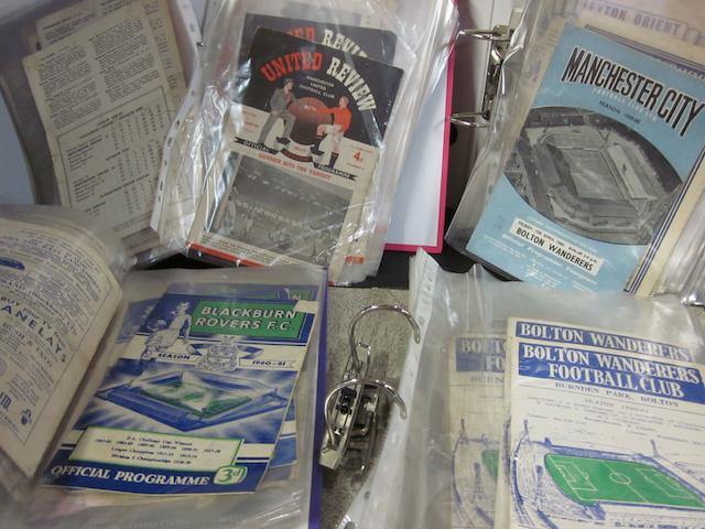 A collection of 1950's/1960's football programmes