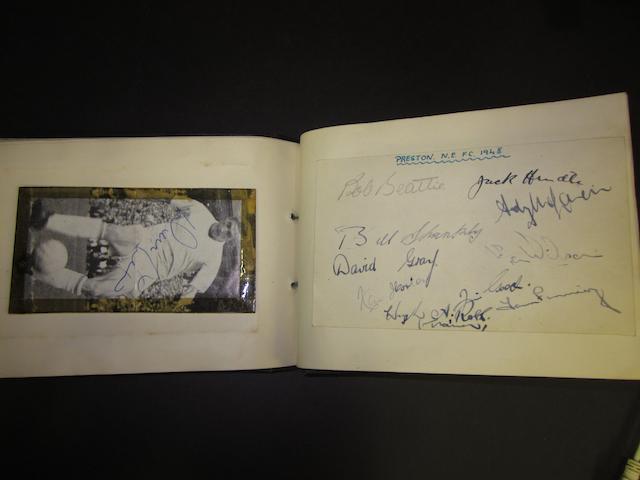 A 1947/48 football autograph book