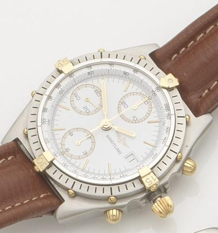 Breitling. A stainless steel automatic chronograph wristwatch Chronomat, Ref:81.950, Case No.68946, Sold 9th February 1990