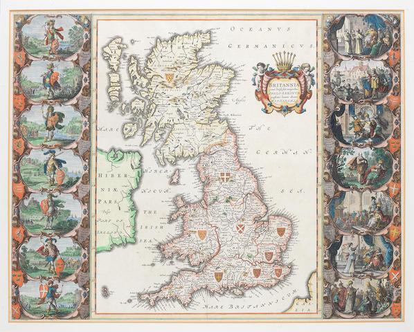 HEPTARCHY [BLAEU (WILLEM and JAN)] Britannia prout divisa fuit temporibus Anglo-Saxonum, presertim durante illorum Heptarchia