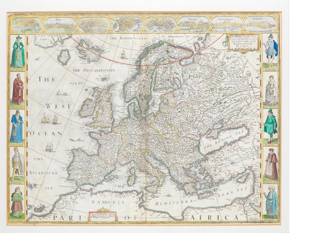 EUROPE SPEED (JOHN) Europ, and the Chiefe Cities Contained Therin Described, with the Habits of the Kingdoms Now in Use, 1676, or later