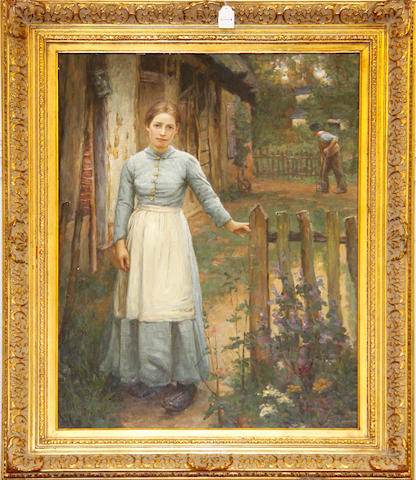 Thomas Lancaster (British) Girl by a gate