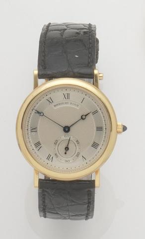 Breguet. An 18ct gold manual wind wristwatchClassique, Ref:BA3290, No.2102, Sold 15th December 1986
