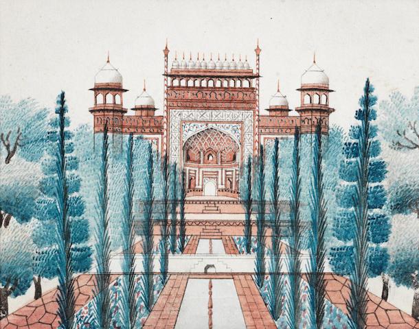 The Taj Mahal; the gateway to the garden court of the Taj Mahal Delhi or Agra, circa 1820-30(2)