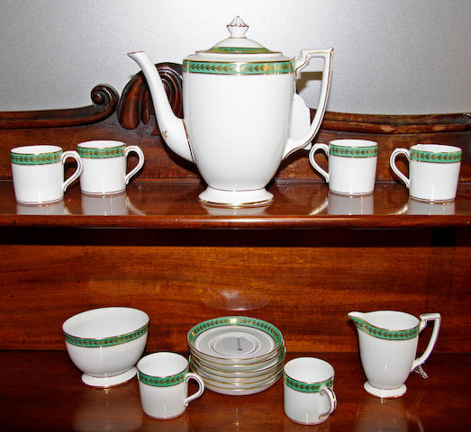 A 20th Century Minton coffee service
