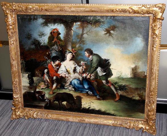 17th Century style Pastoral Scene 78 x 98cm