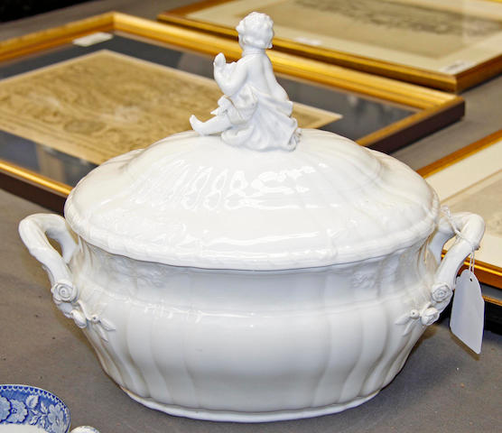 A German blanc de chine tureen