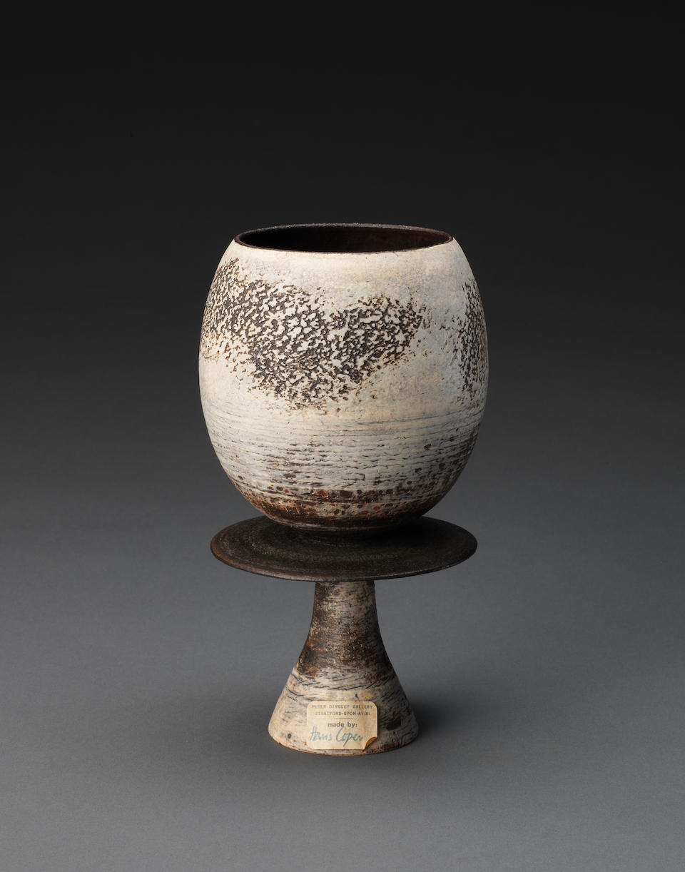 Hans Coper A Rare Cup on Stand with Central Disc, circa 1972