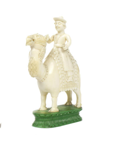An East India (John Company) ivory camel bishop, Berhampur, circa 1840,