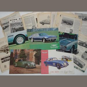 Fibe assorted Aston Martin and Lagonda sales brochures,