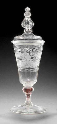 A German goblet and cover, circa 1730-40