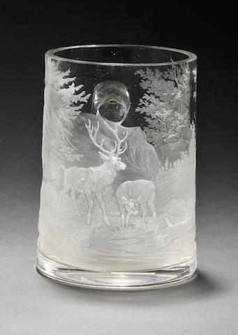 Another Bohemian engraved mug by Franz Paul Zach, circa 1860