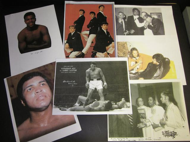 Muhammad Ali v Sonny Liston hand signed picture