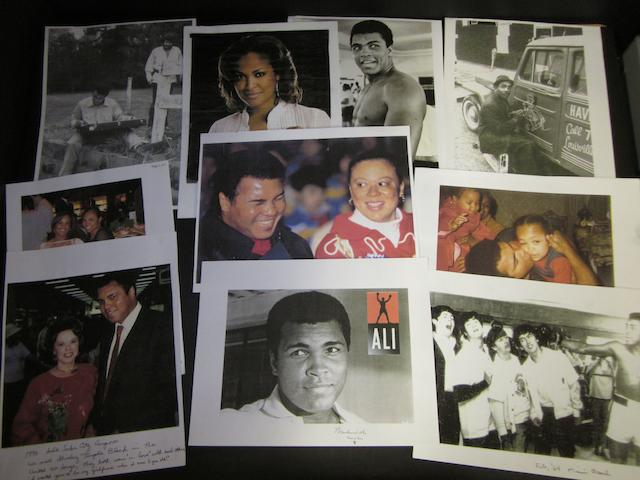 A hand signed Muhammad Ali picture