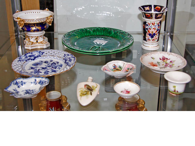 A collection of English and Continental pottery, porcelain and glass 18