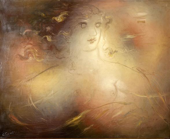 Giorgios Gounaropoulos (Greek, 1889-1977) Nymph 65 x 79 cm.