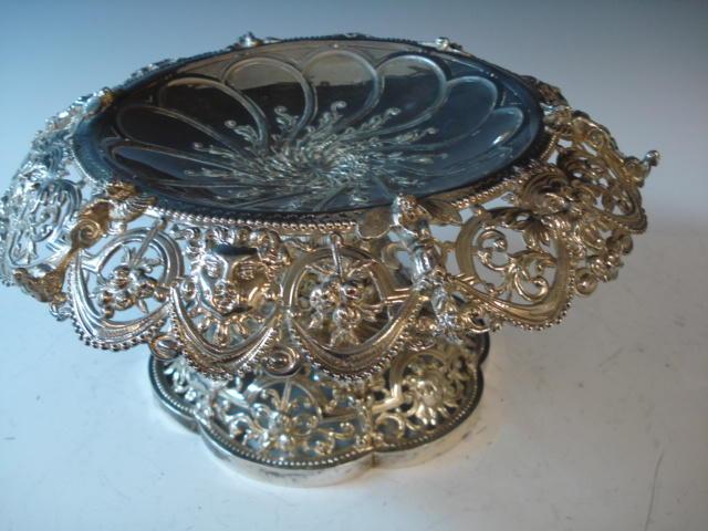Ornate Victorian pedestal dish