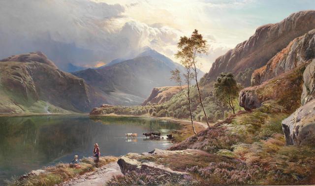 Sidney Richard Percy (British, 1821-1886) Llyn-y-Ddinas, North Wales