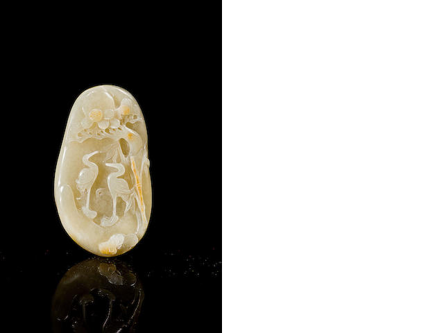 Two pieces of carved Chinese jade 19th/ 20th century