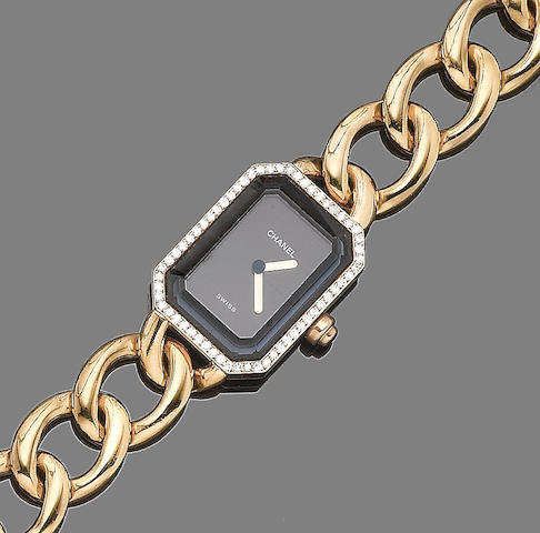 A diamond-set bracelet watch, by Chanel,