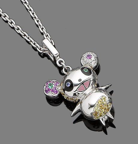 A gem-set novelty pendant, by Takashi Murakami for Louis Vuitton