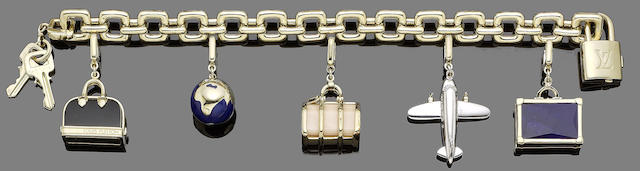 A charm bracelet, by Louis Vuitton (14) (partially illustrated)