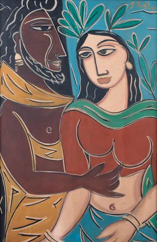 George Keyt (Sri Lanka, 1901-1993) Harmony,