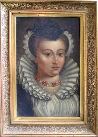 A 17th century style Victorian portrait of a gentle woman