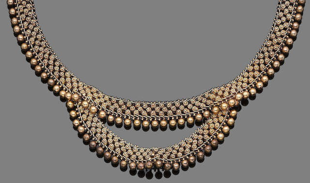 A late 19th century fringe choker